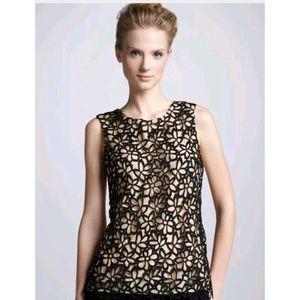 Lela Rose Neiman Marcus for Target Black Lace Top